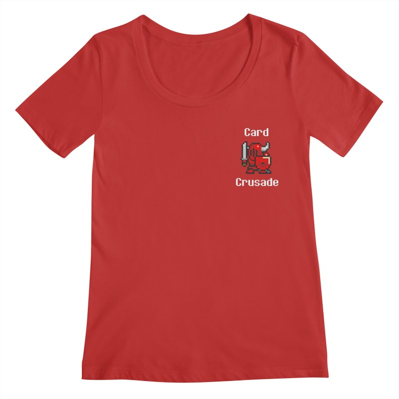 Card Crusade - Small Women's Regular Scoop Neck by Pollywog Games Merch