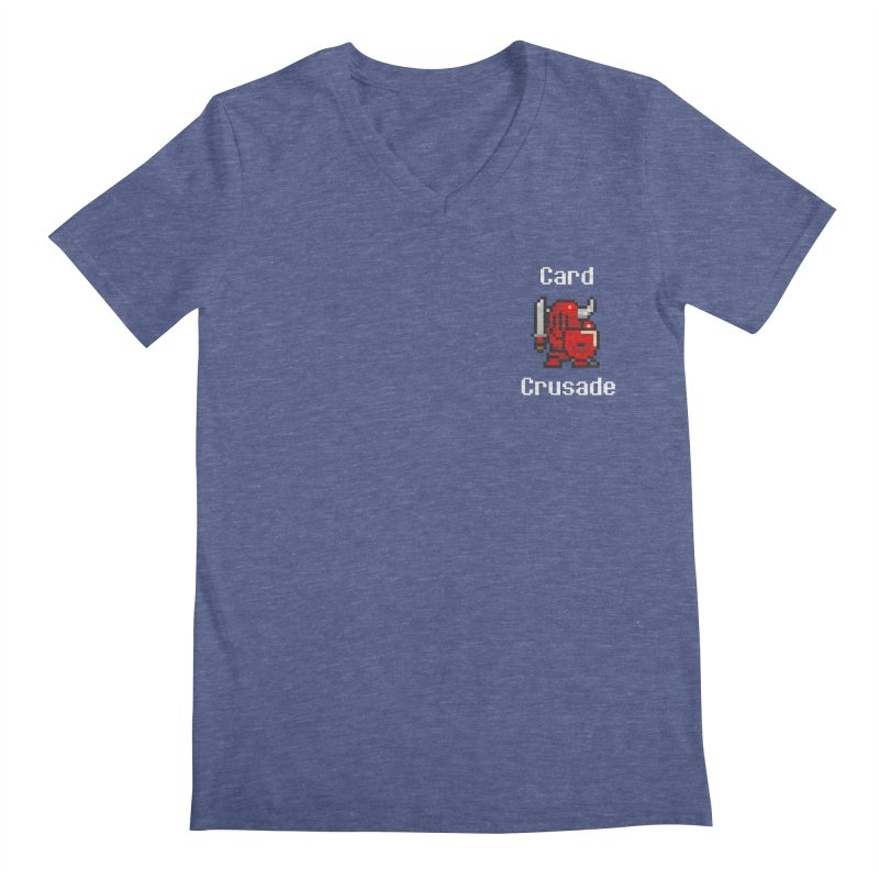 Card Crusade - Small Men's Regular V-Neck by Pollywog Games Merch
