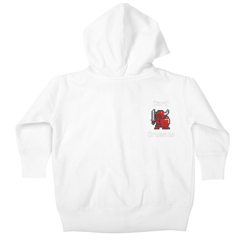 Card Crusade - Small Kids Baby Zip-Up Hoody by Pollywog Games Merch