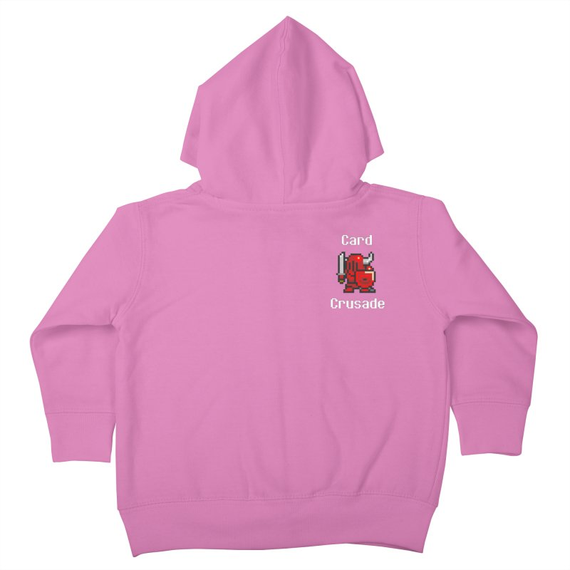 Card Crusade - Small Kids Toddler Zip-Up Hoody by Pollywog Games Merch