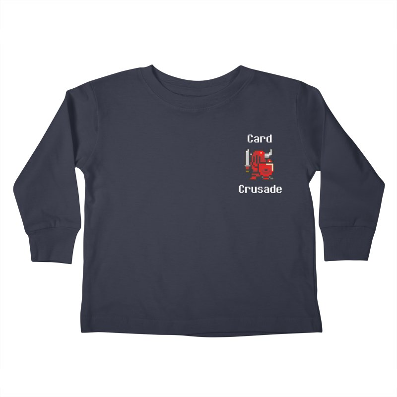 Card Crusade - Small Kids Toddler Longsleeve T-Shirt by Pollywog Games Merch