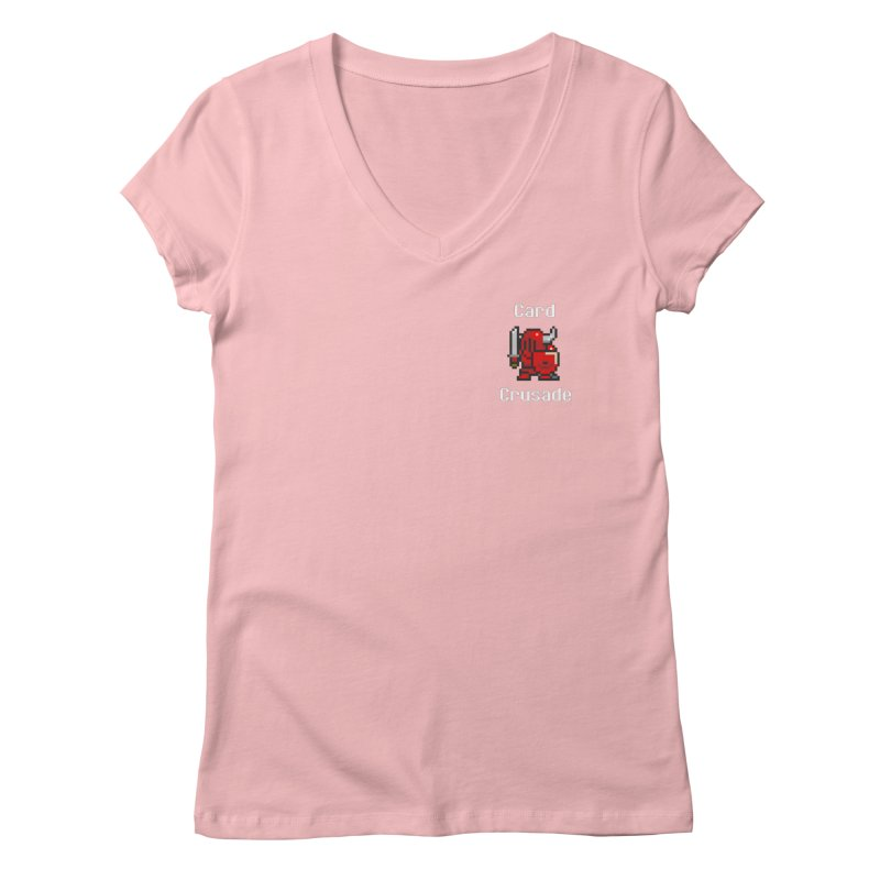 Card Crusade - Small Women's V-Neck by Pollywog Games Merch