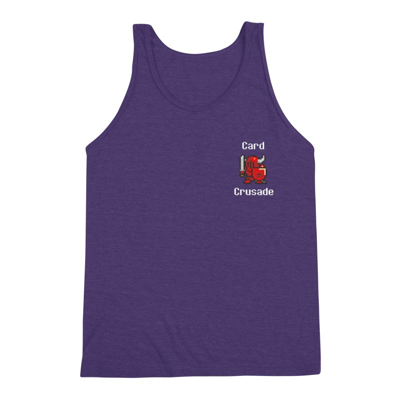 Card Crusade - Small Men's Triblend Tank by Pollywog Games Merch