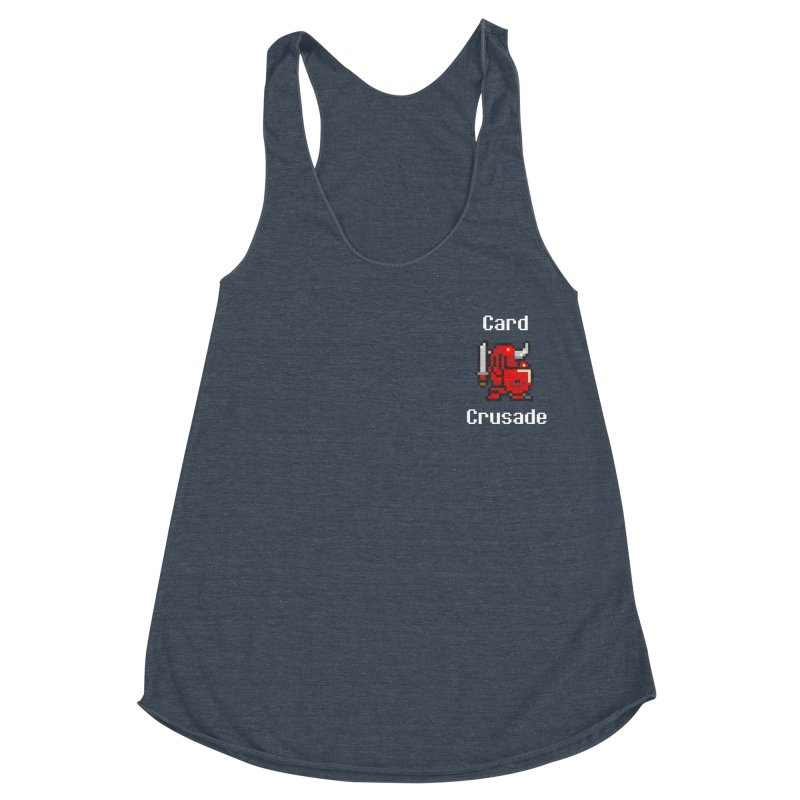 Card Crusade - Small Women's Racerback Triblend Tank by Pollywog Games Merch