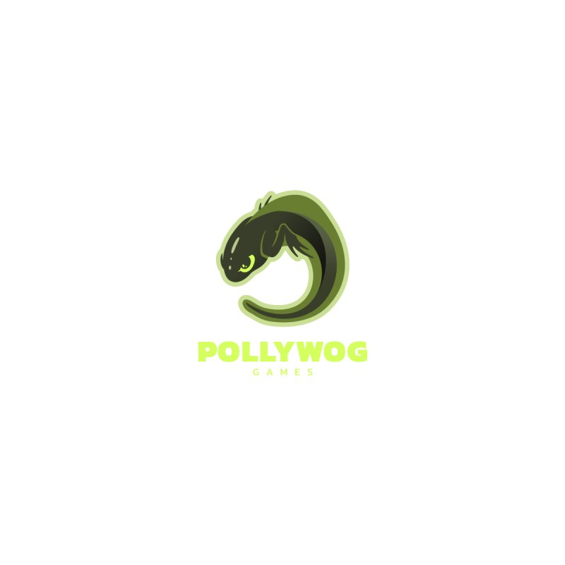 Pollywog Games Logo, Dark Background Men's T-Shirt by Pollywog Games Merch