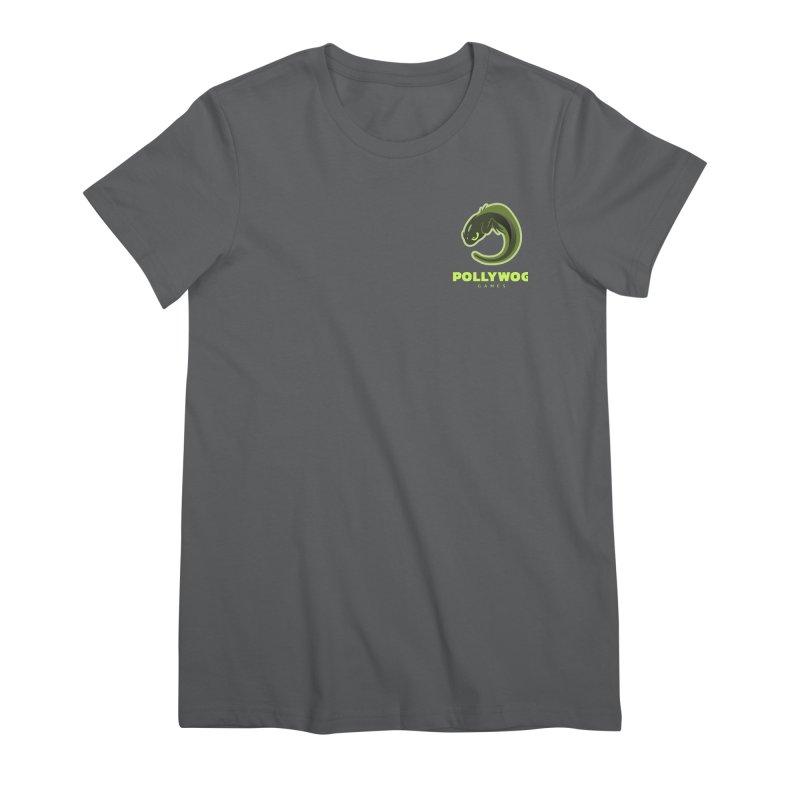 Pollywog Games Logo, Dark Background Women's Premium T-Shirt by Pollywog Games Merch