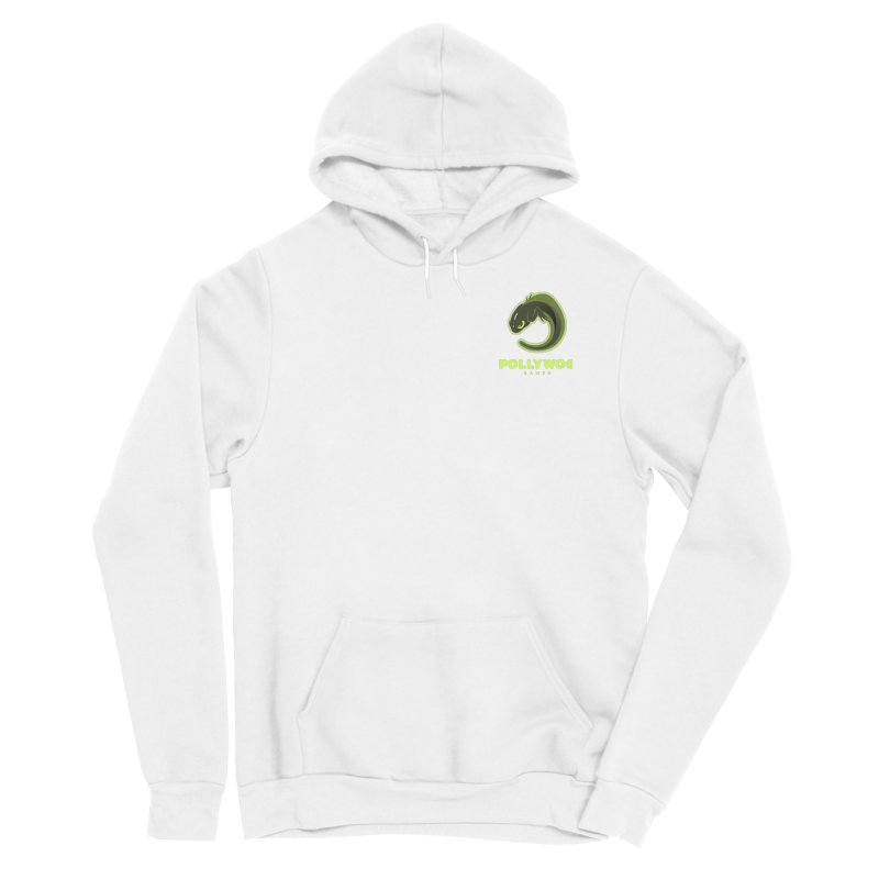 Pollywog Games Logo, Dark Background Men's Sponge Fleece Pullover Hoody by Pollywog Games Merch