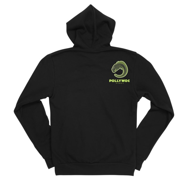 Pollywog Games Logo, Dark Background Women's Sponge Fleece Zip-Up Hoody by Pollywog Games Merch