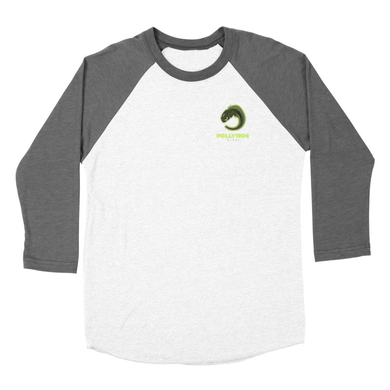 Pollywog Games Logo, Dark Background Men's Baseball Triblend Longsleeve T-Shirt by Pollywog Games Merch