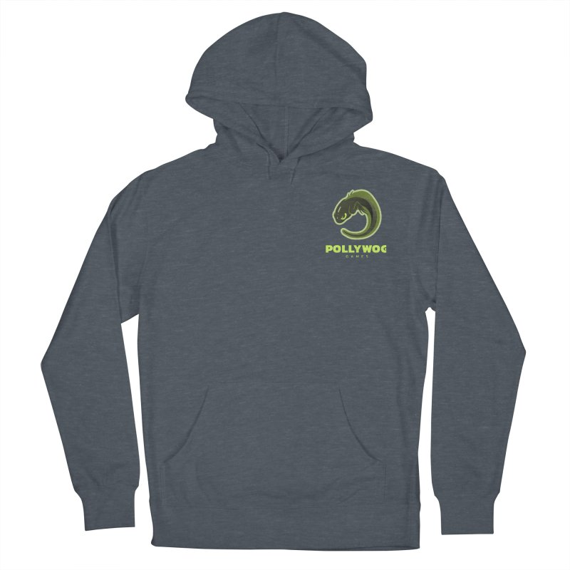 Pollywog Games Logo, Dark Background Men's French Terry Pullover Hoody by Pollywog Games Merch