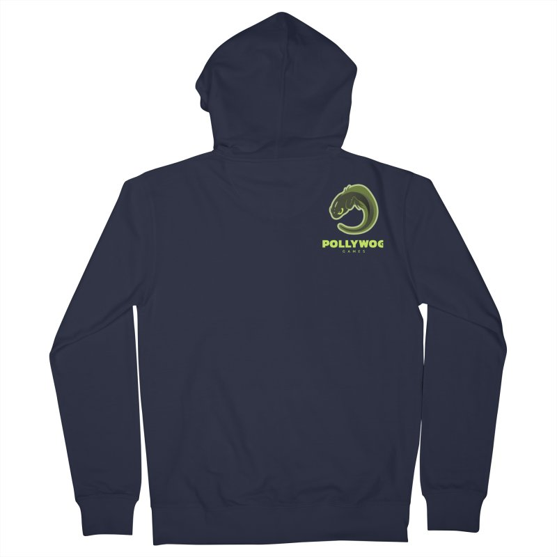 Pollywog Games Logo, Dark Background Women's French Terry Zip-Up Hoody by Pollywog Games Merch