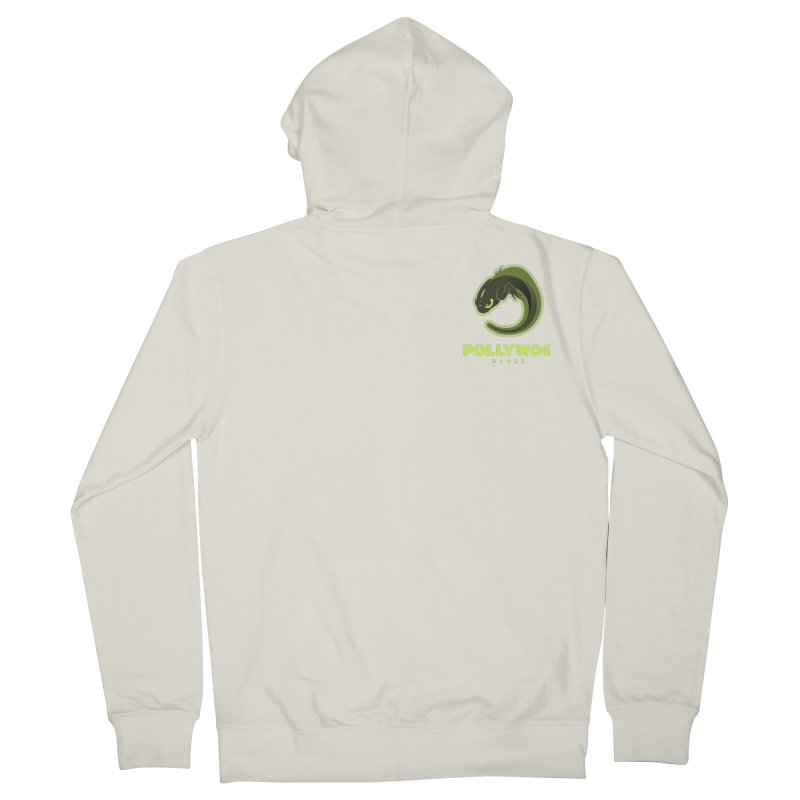 Pollywog Games Logo, Dark Background Men's French Terry Zip-Up Hoody by Pollywog Games Merch