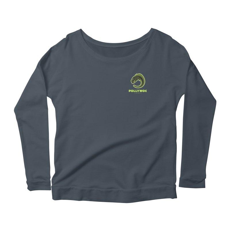 Pollywog Games Logo, Dark Background Women's Scoop Neck Longsleeve T-Shirt by Pollywog Games Merch