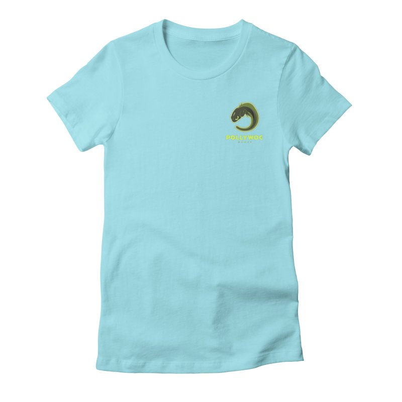 Pollywog Games Logo, Dark Background Women's Fitted T-Shirt by Pollywog Games Merch