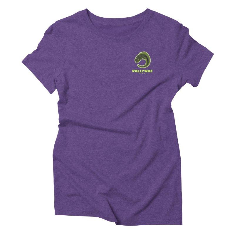 Pollywog Games Logo, Dark Background Women's Triblend T-Shirt by Pollywog Games Merch