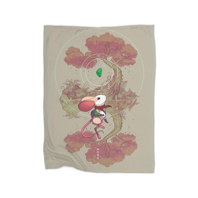 """Moss """"Twilight Garden"""" Home Fleece Blanket Blanket by polyarc games"""