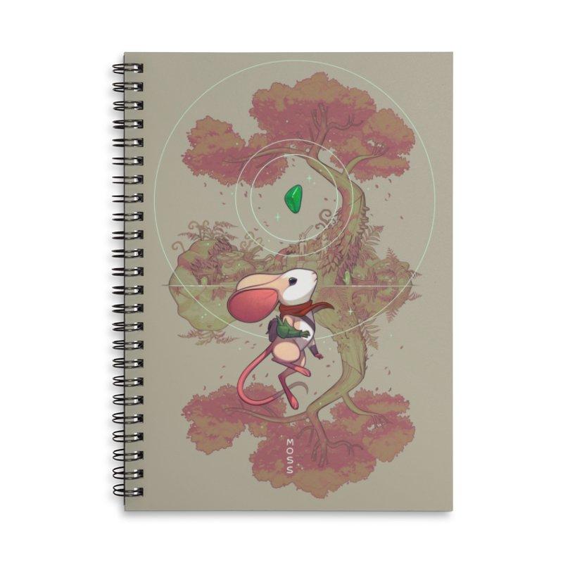 "Moss ""Twilight Garden"" Accessories Lined Spiral Notebook by polyarc games"