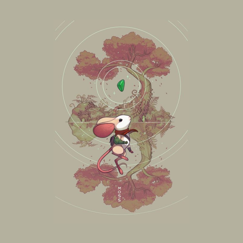 "Moss ""Twilight Garden"" Men's T-Shirt by polyarc games"