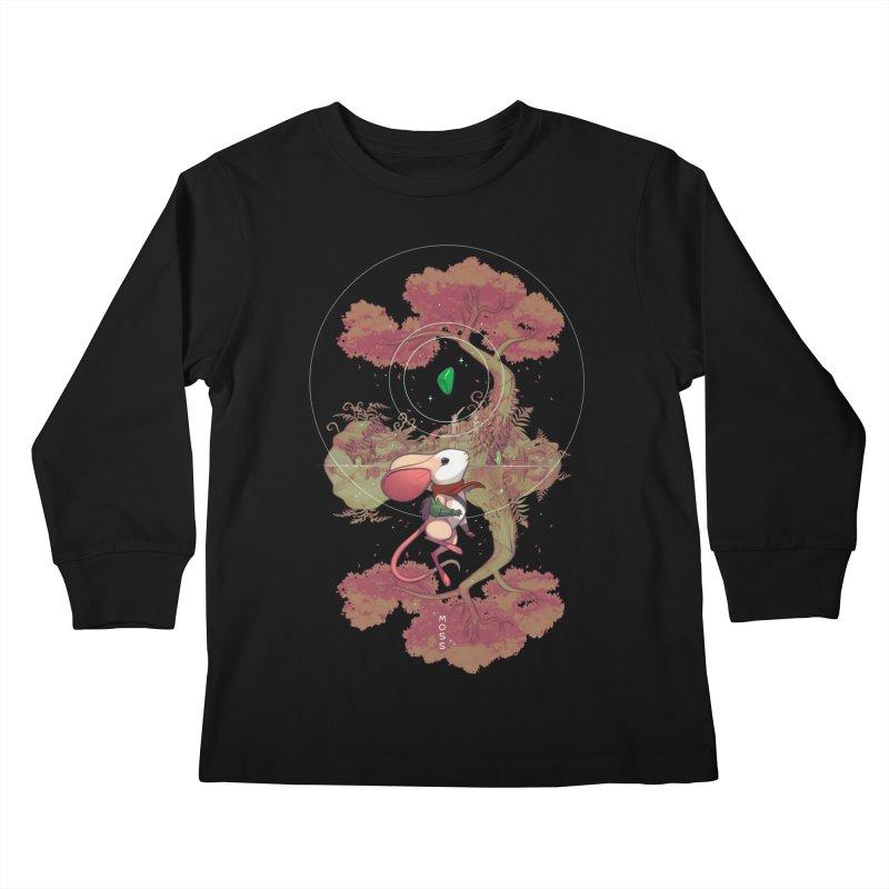 """Moss """"Twilight Garden"""" Kids Longsleeve T-Shirt by polyarc games"""