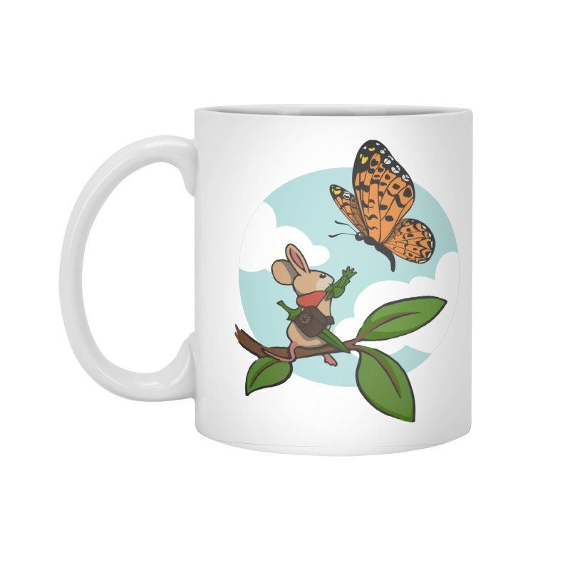 Moss - Quill & Butterfly Accessories Standard Mug by polyarc games