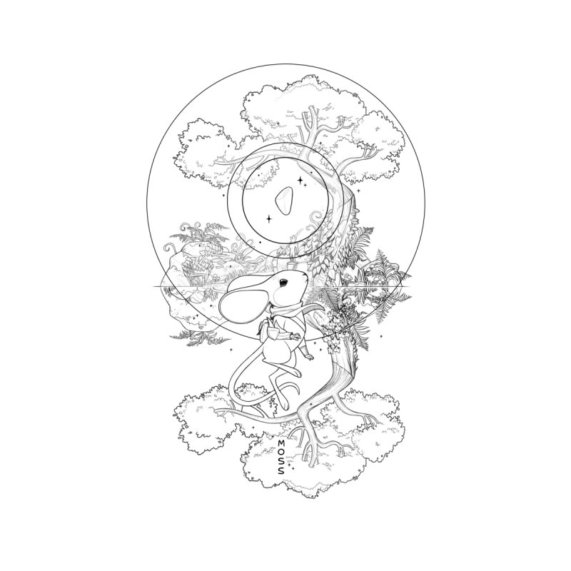 """Moss """"Twilight Garden"""" Outline by polyarc games"""