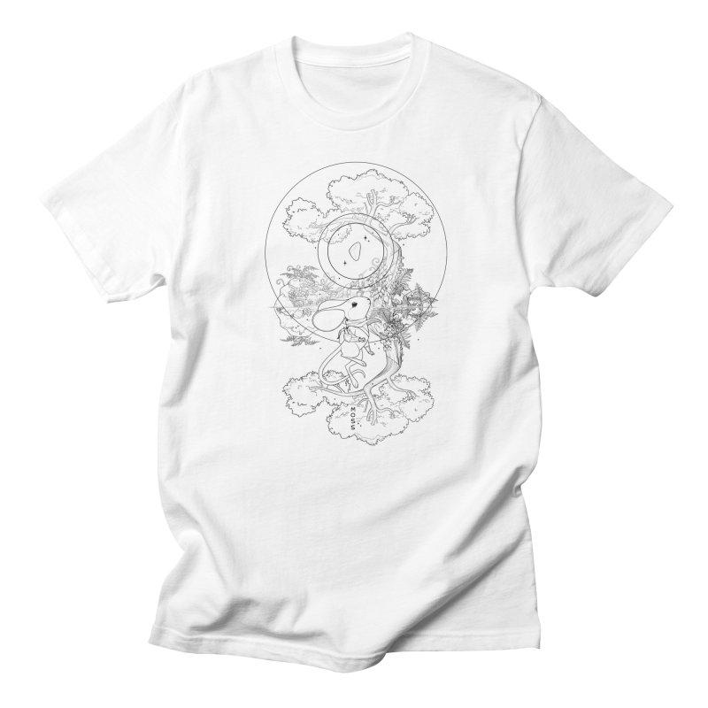 """Moss """"Twilight Garden"""" Outline Men's Regular T-Shirt by polyarc games"""