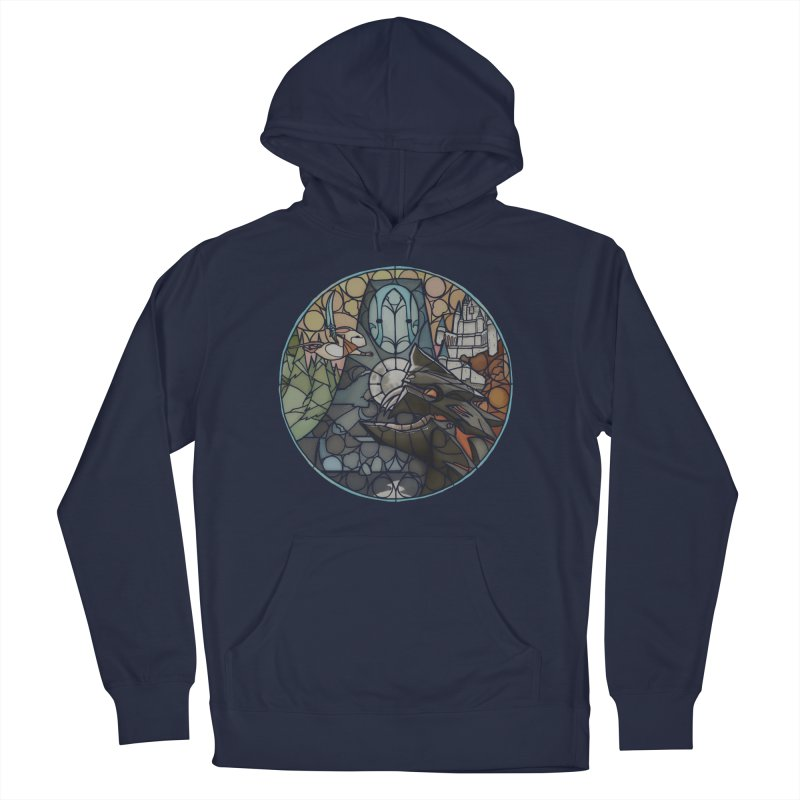 Moss Fragments Men's French Terry Pullover Hoody by polyarc games