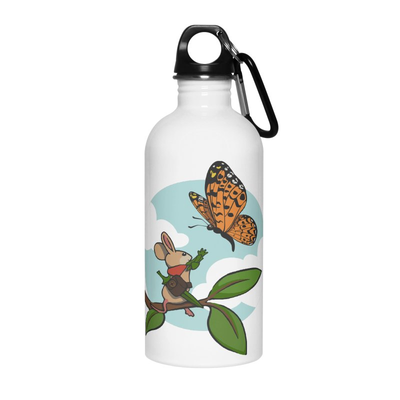 Moss - Quill & Butterfly Accessories Water Bottle by polyarc games