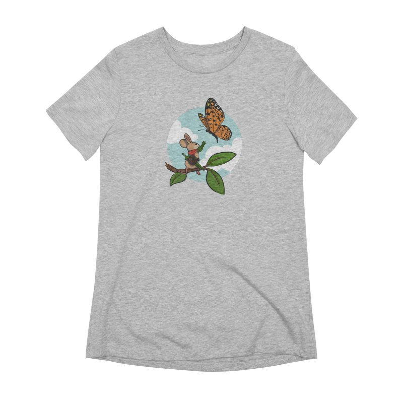 Moss - Quill & Butterfly Women's Extra Soft T-Shirt by polyarc games