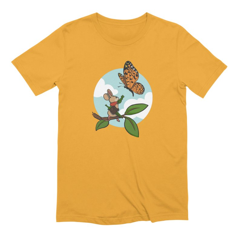 Moss - Quill & Butterfly Men's Extra Soft T-Shirt by polyarc games