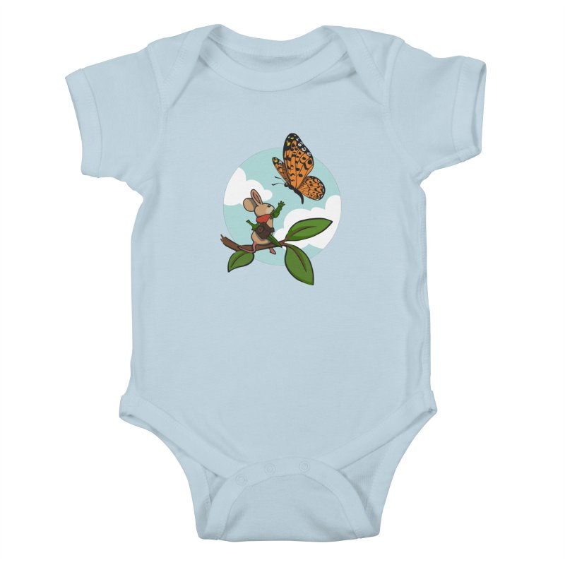 Moss - Quill & Butterfly Kids Baby Bodysuit by polyarc games