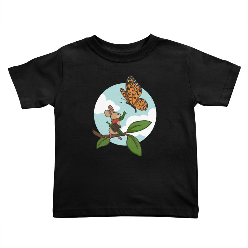 Moss - Quill & Butterfly Kids Toddler T-Shirt by polyarc games