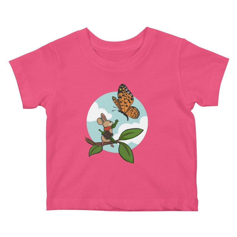 Moss - Quill & Butterfly Kids Baby T-Shirt by polyarc games
