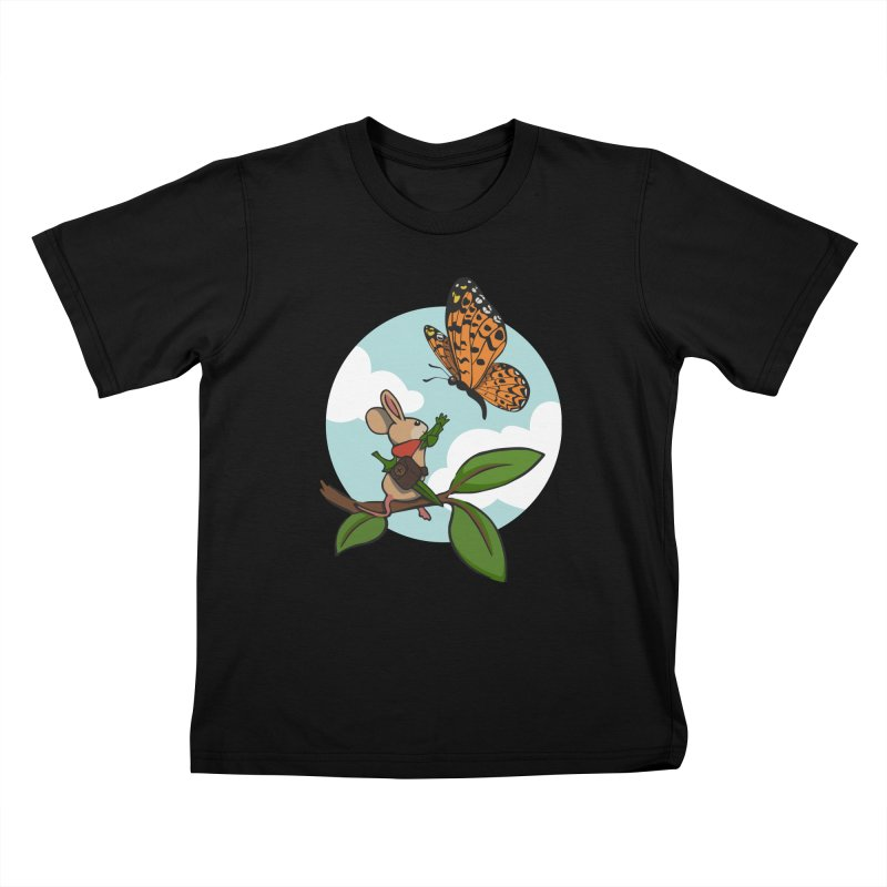 Moss - Quill & Butterfly Kids T-Shirt by polyarc games