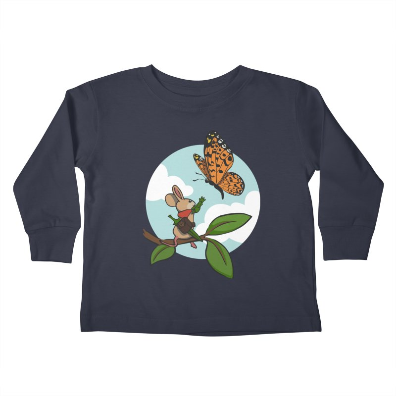 Moss - Quill & Butterfly Kids Toddler Longsleeve T-Shirt by polyarc games