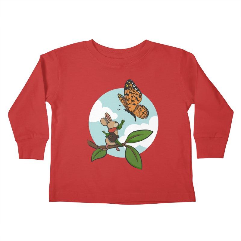 Moss - Quill & Butterfly Kids Toddler Longsleeve T-Shirt by polyarc games