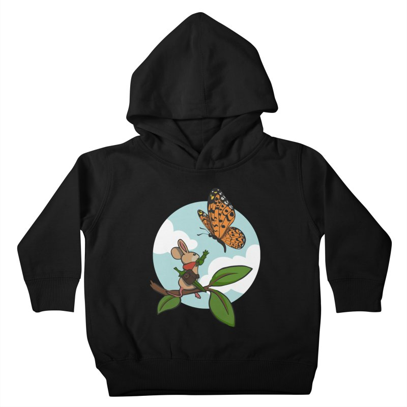Moss - Quill & Butterfly Kids Toddler Pullover Hoody by polyarc games