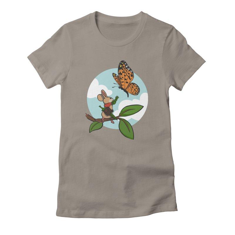 Moss - Quill & Butterfly Women's T-Shirt by polyarc games