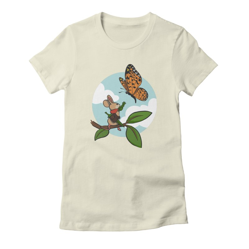 Moss - Quill & Butterfly Women's Fitted T-Shirt by polyarc games