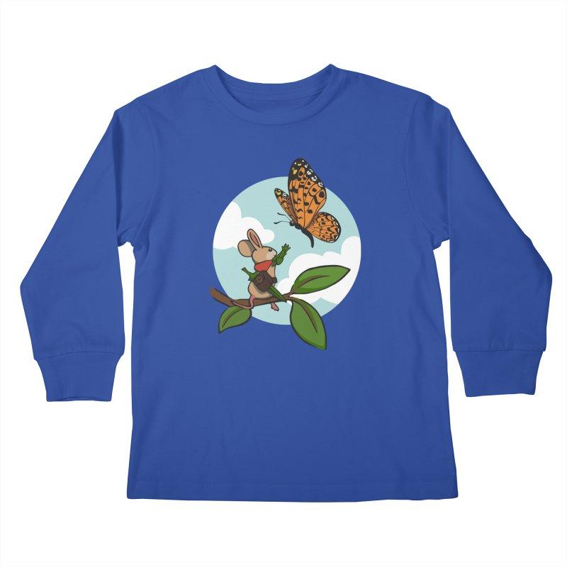 Moss - Quill & Butterfly Kids Longsleeve T-Shirt by polyarc games