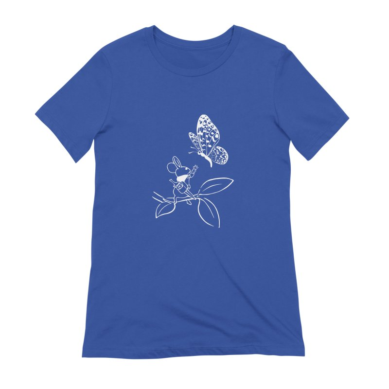 Moss - Quill & Butterfly (Outline) Women's Extra Soft T-Shirt by polyarc games