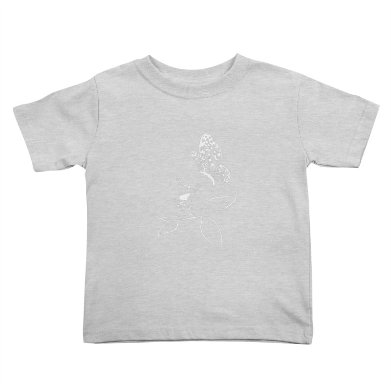 Moss - Quill & Butterfly (Outline) Kids Toddler T-Shirt by polyarc games