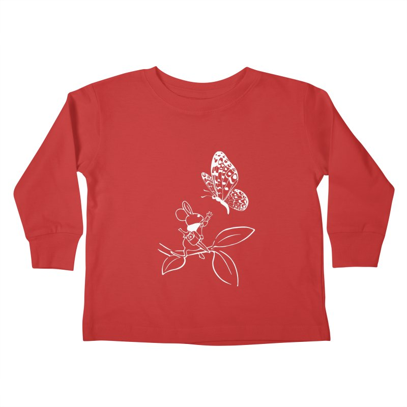 Moss - Quill & Butterfly (Outline) Kids Toddler Longsleeve T-Shirt by polyarc games