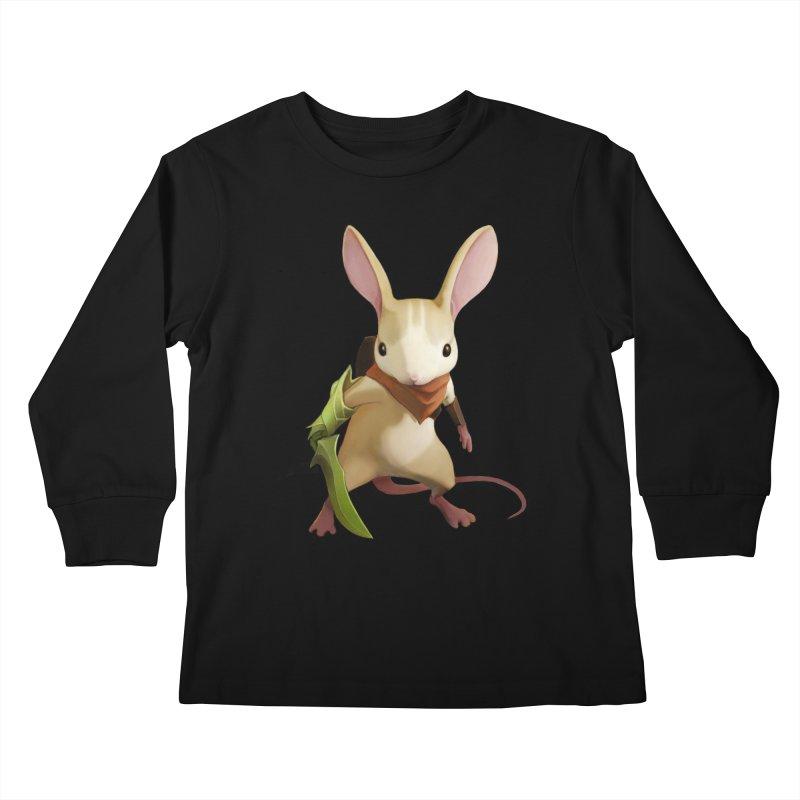 Moss - Quill Kids Longsleeve T-Shirt by polyarc games