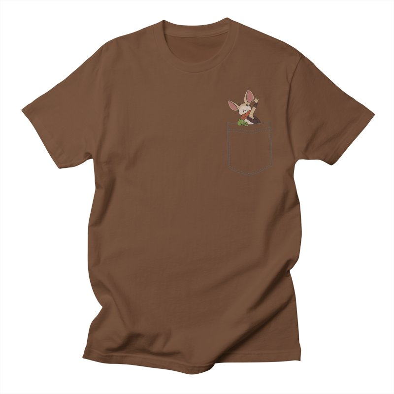Pocket Quill in Men's Regular T-Shirt Brown by polyarc games