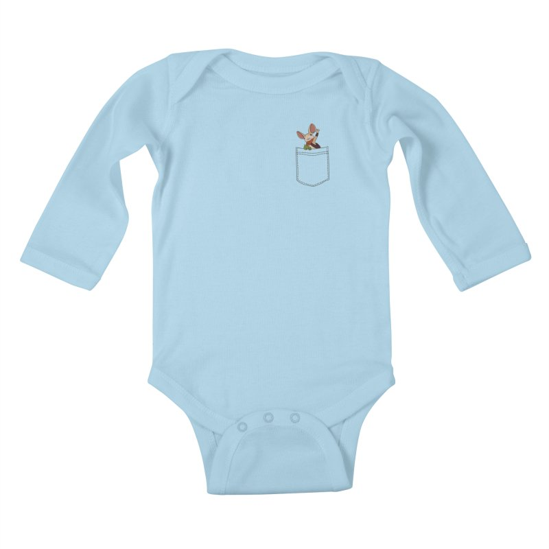 Pocket Quill Kids Baby Longsleeve Bodysuit by polyarc games
