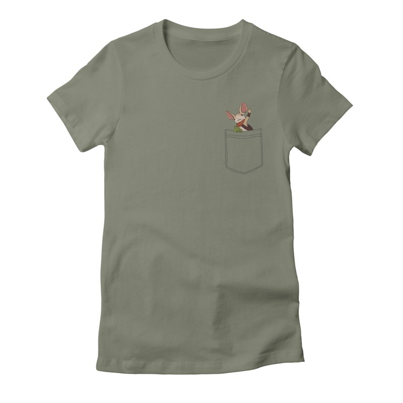 Pocket Quill in Women's Fitted T-Shirt Light Olive by polyarc games