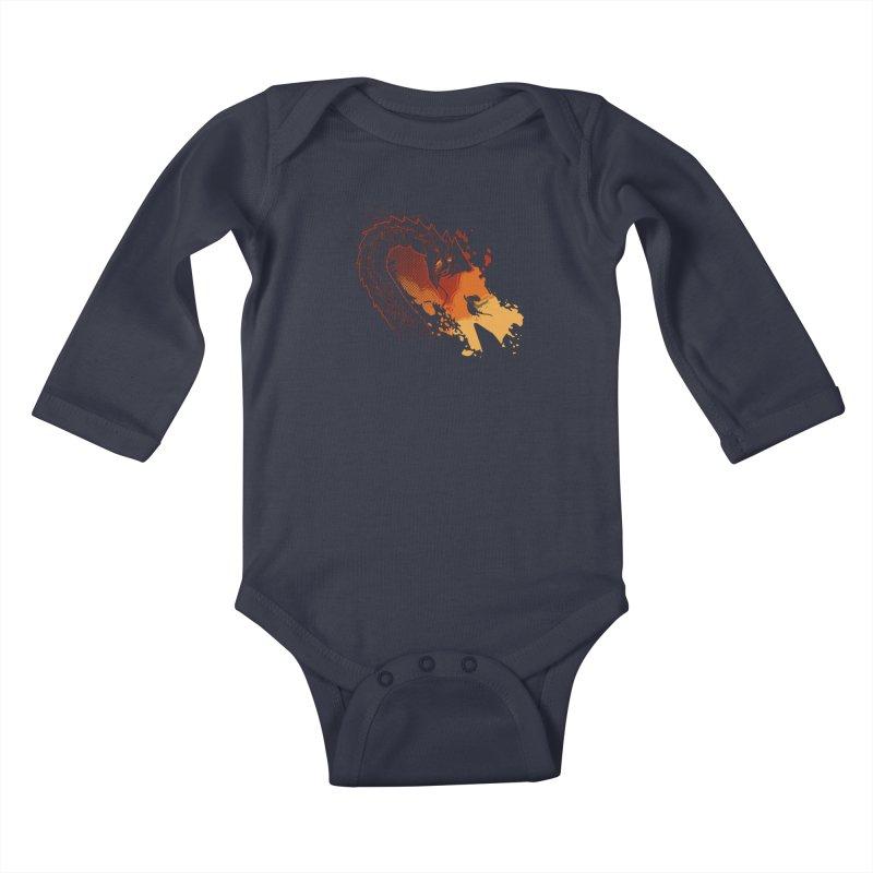 Unlikely Hero Kids Baby Longsleeve Bodysuit by polyarc games