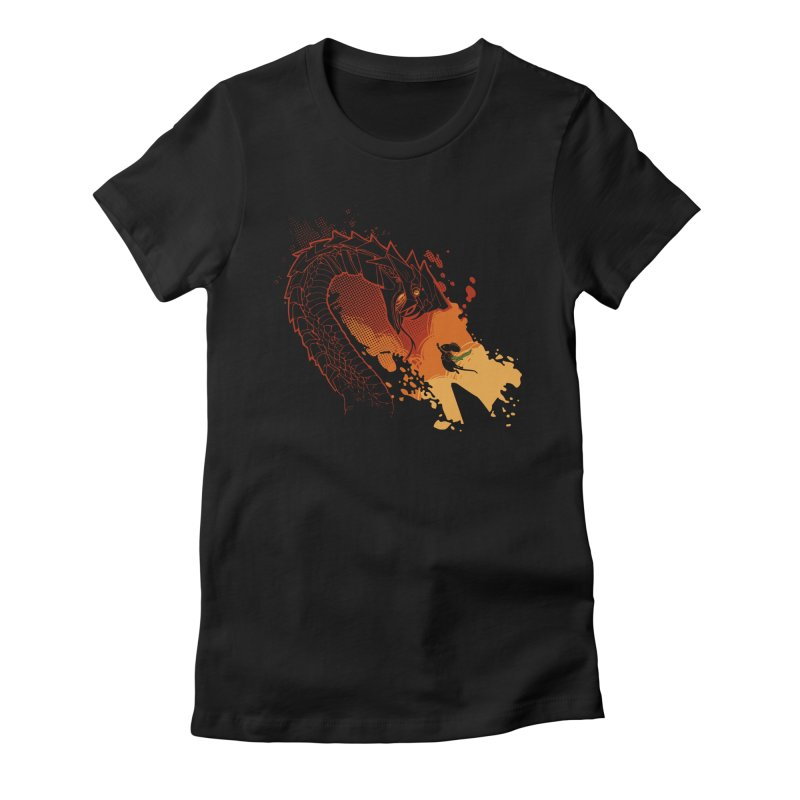 Unlikely Hero in Women's Fitted T-Shirt Black by polyarc games