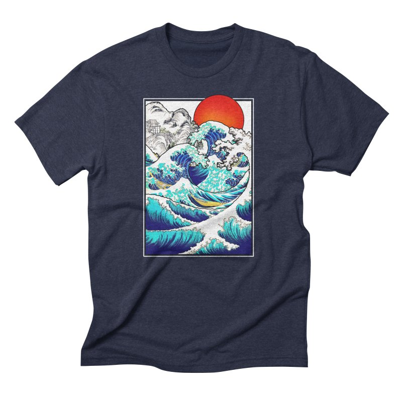 Asian Tides Men's Triblend T-shirt by